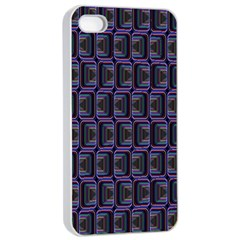 Psychedelic 70 S 1970 S Abstract Apple iPhone 4/4s Seamless Case (White)
