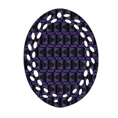 Psychedelic 70 S 1970 S Abstract Oval Filigree Ornament (Two Sides)