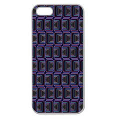 Psychedelic 70 S 1970 S Abstract Apple Seamless iPhone 5 Case (Clear)