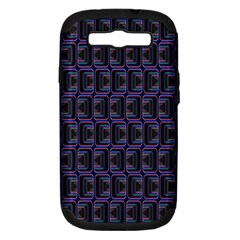 Psychedelic 70 S 1970 S Abstract Samsung Galaxy S III Hardshell Case (PC+Silicone)