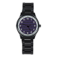 Psychedelic 70 S 1970 S Abstract Stainless Steel Round Watch