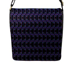 Psychedelic 70 S 1970 S Abstract Flap Messenger Bag (L)