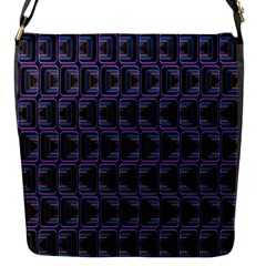 Psychedelic 70 S 1970 S Abstract Flap Messenger Bag (S)