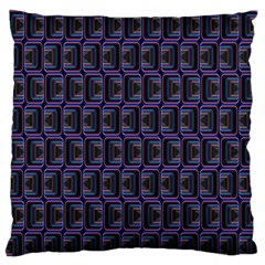 Psychedelic 70 S 1970 S Abstract Large Flano Cushion Case (Two Sides)