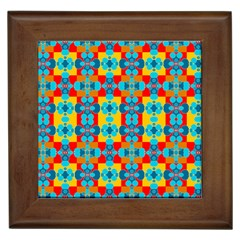 Pop Art Abstract Design Pattern Framed Tiles