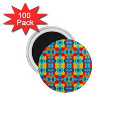 Pop Art Abstract Design Pattern 1.75  Magnets (100 pack)