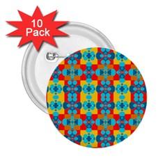 Pop Art Abstract Design Pattern 2.25  Buttons (10 pack)