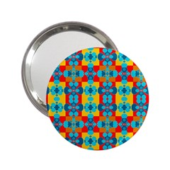 Pop Art Abstract Design Pattern 2 25  Handbag Mirrors