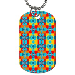 Pop Art Abstract Design Pattern Dog Tag (One Side)