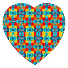 Pop Art Abstract Design Pattern Jigsaw Puzzle (Heart)