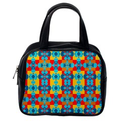 Pop Art Abstract Design Pattern Classic Handbags (One Side)