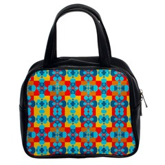 Pop Art Abstract Design Pattern Classic Handbags (2 Sides)