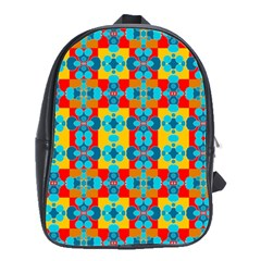 Pop Art Abstract Design Pattern School Bags(Large)