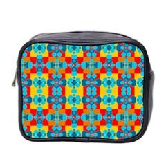 Pop Art Abstract Design Pattern Mini Toiletries Bag 2-Side