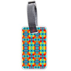Pop Art Abstract Design Pattern Luggage Tags (Two Sides)