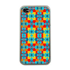 Pop Art Abstract Design Pattern Apple iPhone 4 Case (Clear)