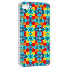 Pop Art Abstract Design Pattern Apple iPhone 4/4s Seamless Case (White)