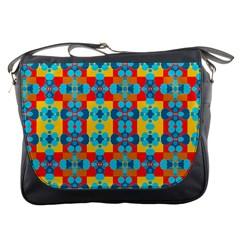 Pop Art Abstract Design Pattern Messenger Bags