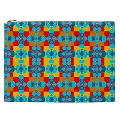 Pop Art Abstract Design Pattern Cosmetic Bag (XXL)