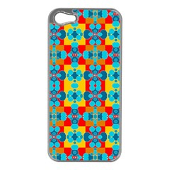 Pop Art Abstract Design Pattern Apple iPhone 5 Case (Silver)