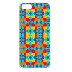 Pop Art Abstract Design Pattern Apple iPhone 5 Seamless Case (White)