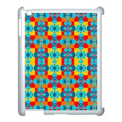Pop Art Abstract Design Pattern Apple iPad 3/4 Case (White)