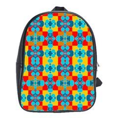 Pop Art Abstract Design Pattern School Bags (XL)