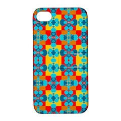 Pop Art Abstract Design Pattern Apple Iphone 4/4s Hardshell Case With Stand