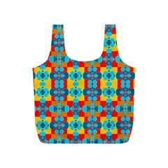Pop Art Abstract Design Pattern Full Print Recycle Bags (S)