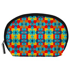 Pop Art Abstract Design Pattern Accessory Pouches (Large)