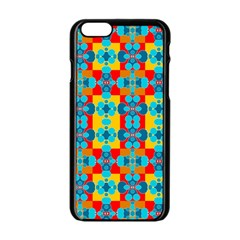 Pop Art Abstract Design Pattern Apple iPhone 6/6S Black Enamel Case