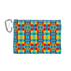 Pop Art Abstract Design Pattern Canvas Cosmetic Bag (m)