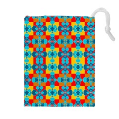 Pop Art Abstract Design Pattern Drawstring Pouches (Extra Large)