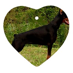 Doberman Pinscher Black Full Ornament (Heart)
