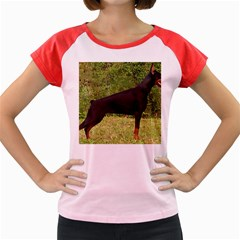 Doberman Pinscher Black Full Women s Cap Sleeve T-Shirt