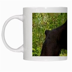 Doberman Pinscher Black Full White Mugs