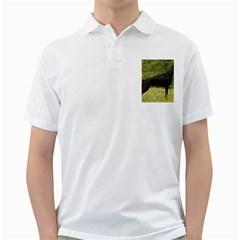 Doberman Pinscher Black Full Golf Shirts