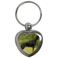 Doberman Pinscher Black Full Key Chains (Heart)