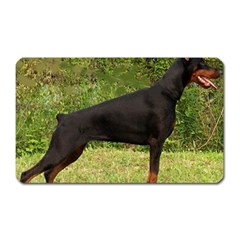 Doberman Pinscher Black Full Magnet (Rectangular)