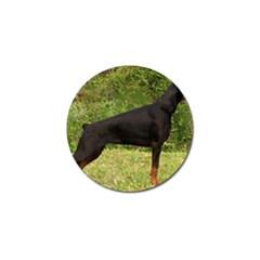 Doberman Pinscher Black Full Golf Ball Marker (4 pack)