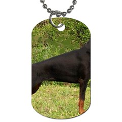 Doberman Pinscher Black Full Dog Tag (Two Sides)
