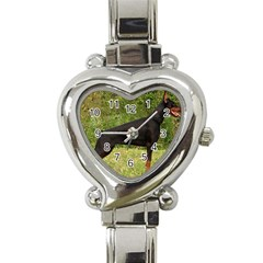 Doberman Pinscher Black Full Heart Italian Charm Watch