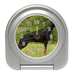 Doberman Pinscher Black Full Travel Alarm Clocks