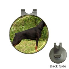 Doberman Pinscher Black Full Hat Clips with Golf Markers