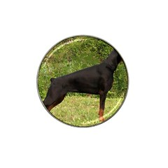 Doberman Pinscher Black Full Hat Clip Ball Marker (10 pack)