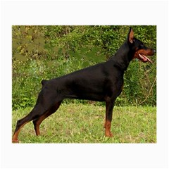Doberman Pinscher Black Full Small Glasses Cloth