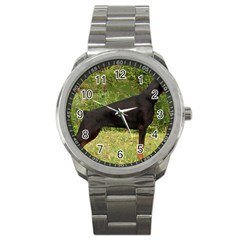 Doberman Pinscher Black Full Sport Metal Watch