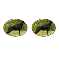 Doberman Pinscher Black Full Cufflinks (Oval)