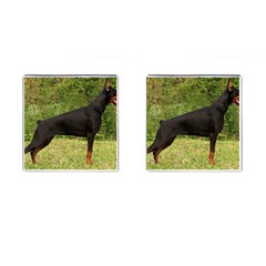 Doberman Pinscher Black Full Cufflinks (Square)