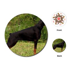 Doberman Pinscher Black Full Playing Cards (Round)